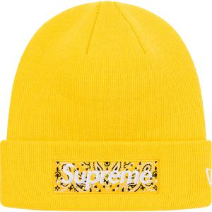 Supreme x New Era Bandana Box Logo Beanie (Yellow)