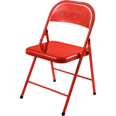 Supreme Metal Folding Chair (Red)
