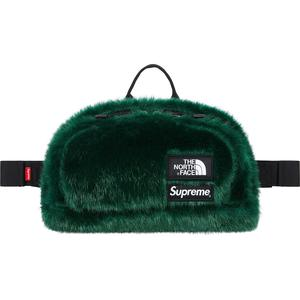 Supreme x The North Face® Faux Fur Waist Bag Green