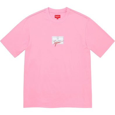 Supreme Signature Label S/S Top Tee (Pink)