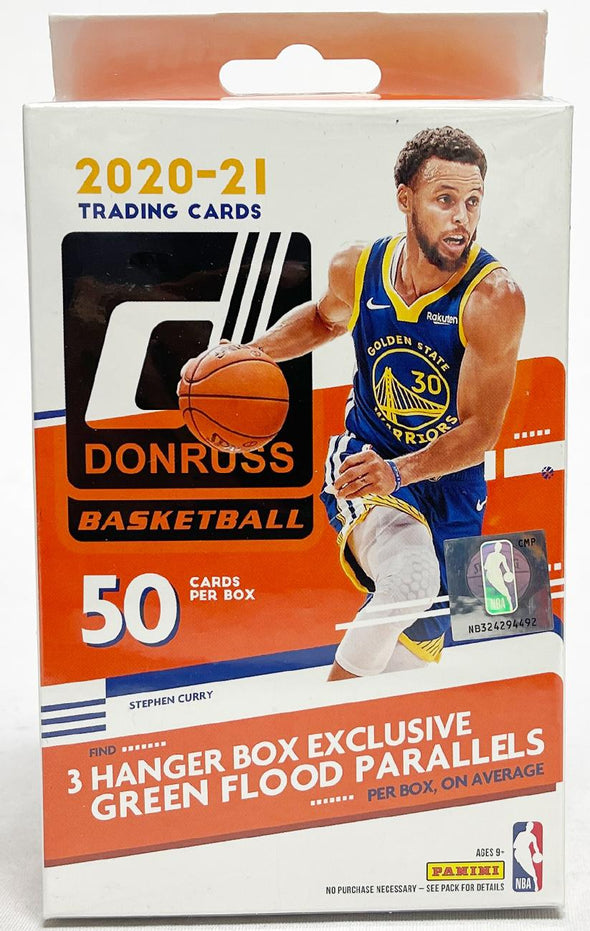 2020-21 Panini Donruss NBA Basketball Hanger Box 50 Cards (3Green Flood Parallels)