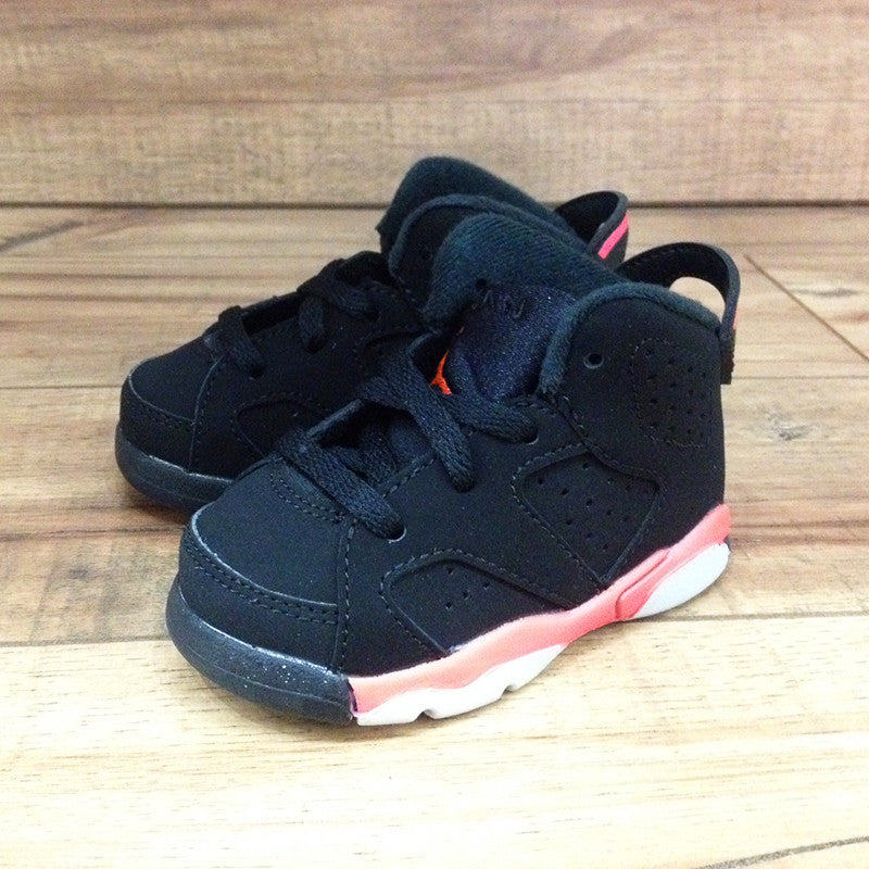 cc54070de72006 NIKE AIR BABY JORDAN 6 Retro TD Black Infrared (384667-023 ...