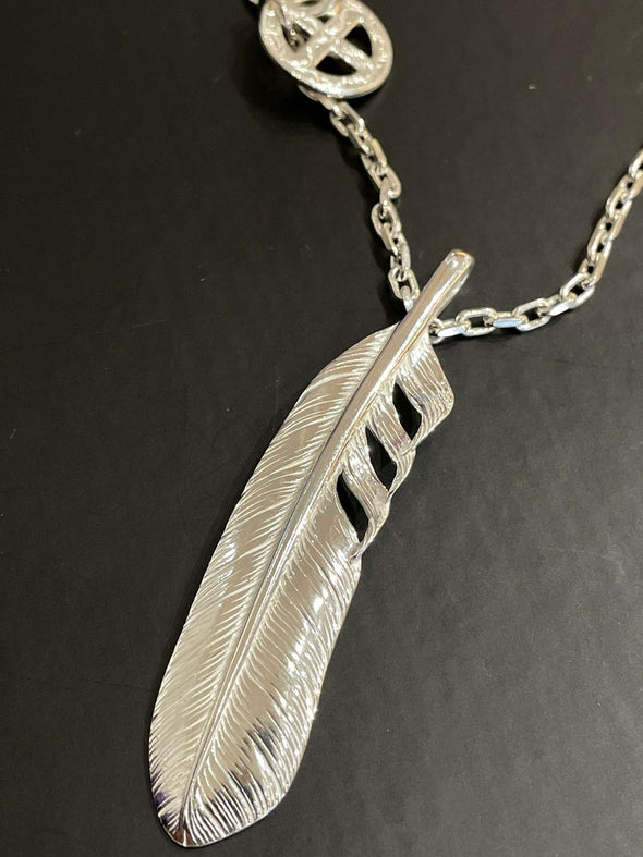 Ken Kikuchi Feather Necklace (D)