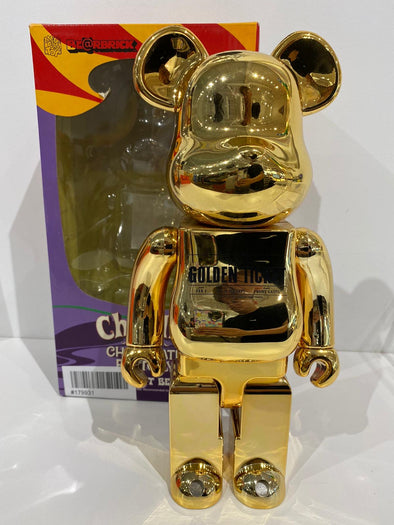 BE@RBRICK X Willy Wonka | Charlie and the Chocolate Factory  Golden 400%