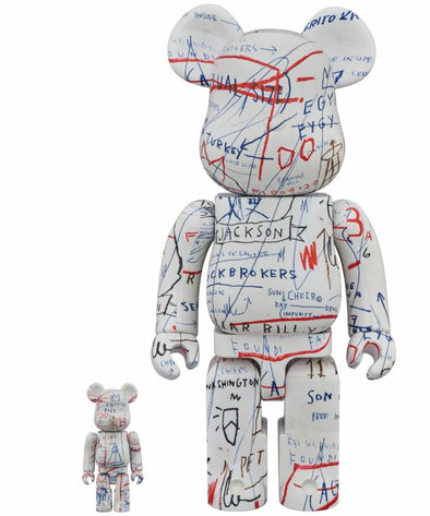 Jean-Michel Basquiat Bearbrick 100% + 400% Set