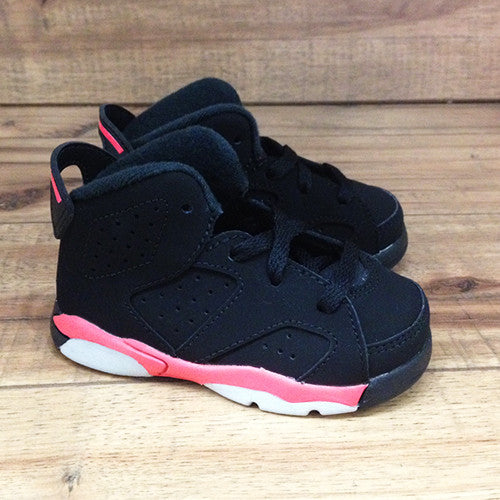 NIKE AIR BABY JORDAN 6 Retro TD Black Infrared (384667-023) – Superbored Clothing Ltd.