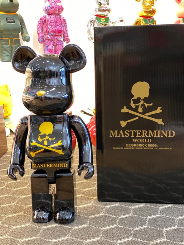 Be@rbrick x Mastermind Japan 1000% (black)