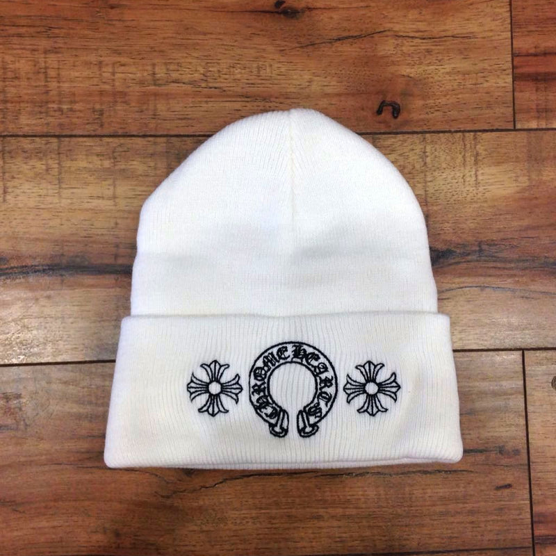 CHROME HEARTS-LOGO BEANIE (White)
