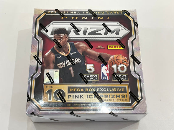 2020-21 Panini Prizm Basketball Mega Box (10 Pink Ice Prizms) 50cards