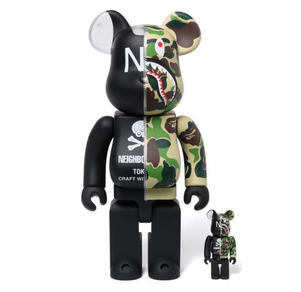 Bape NBHD Camo Be@rbrick Set