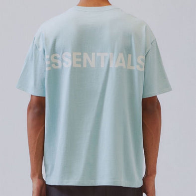 FEAR OF GOD ESSENTIALS Blue 3M Logo Boxy T-Shirt