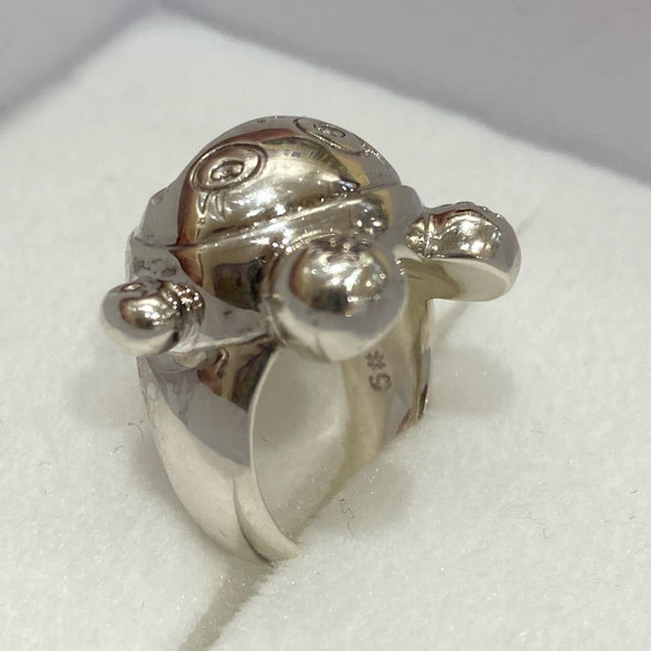 Takashi Murakami (Tonari no Zingaro) x Jan Home Made silver KiKi Ring Girl Size