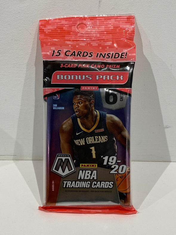 2019-2020 Panini Mosaic Basketball Cards Fat Pack  (3 packs, 15 cards)