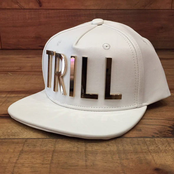"HATER Metal ""TRILL"" Snapback (White)"