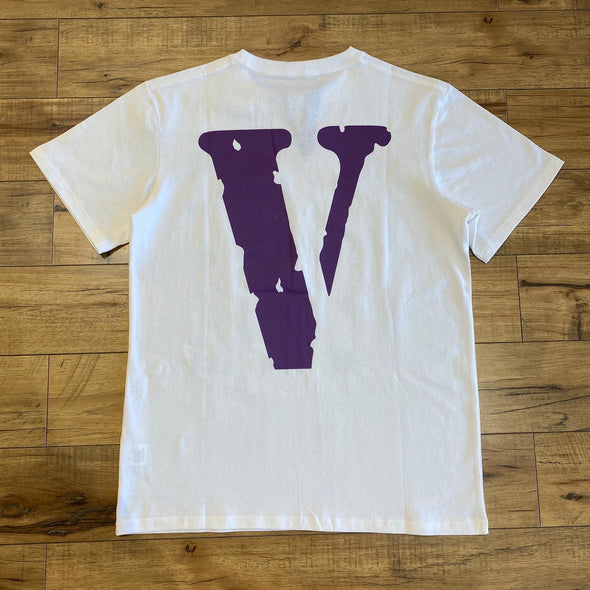 Vlone Friends Logo Tee (White/purple)