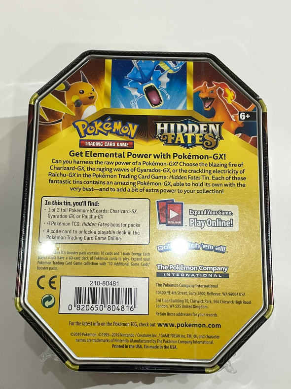 Pokemon Hidden Fates Gyarados-GX Collector's Tin