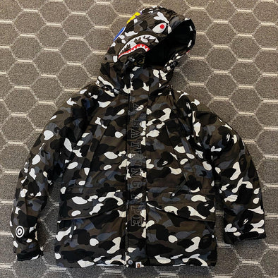 BAPE City Camo Shark Down Puffy Jacket