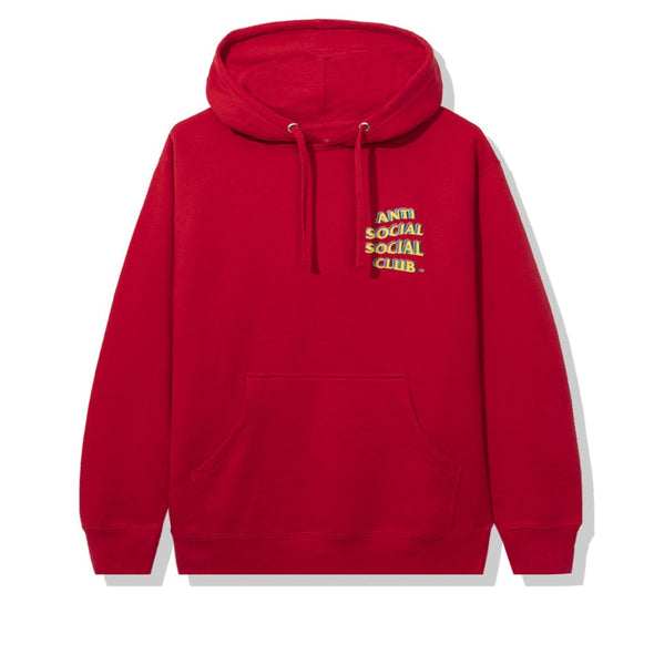 Anti Social Social Club Stir Crazy Red Hoodie