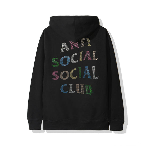 ASSC NT Black Hoodie with Rhinestones (ANTI SOCIAL SOCIAL CLUB)
