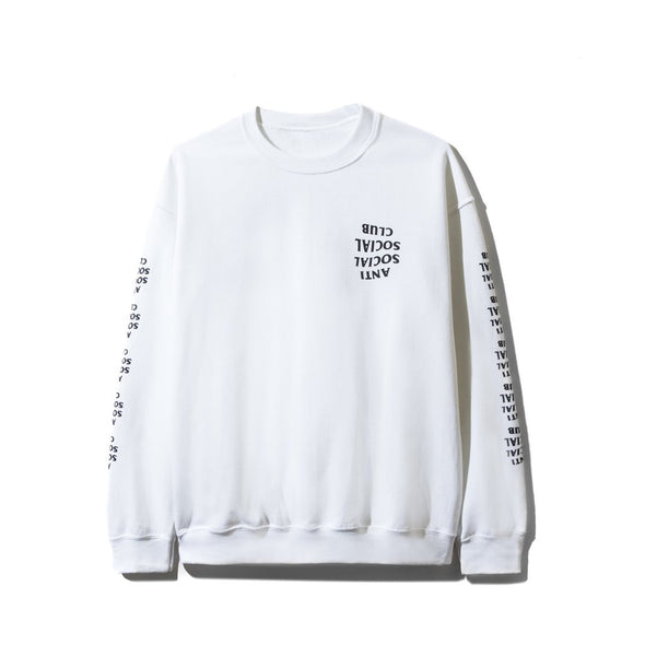 ASSC Blacked Out White Long Sleeve Tee(Anti Social Social Club)