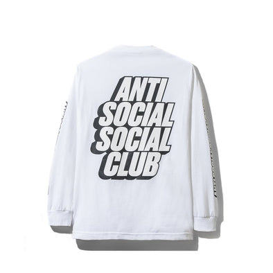 ASSC Block Me White Long Sleeve Tee (Anti Social Social Club)