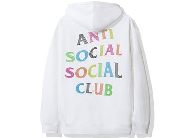 ASSC NT White Hoodie with Colorstones (ANTI SOCIAL SOCIAL CLUB)