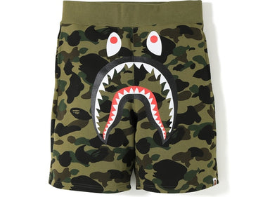 BAPE 1st Camo Shark Sweat Shorts (Green)