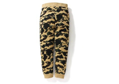 BAPE 1st Camo Slim Sweatpants Yellow
