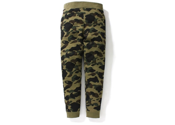 BAPE 1st Camo Slim Sweatpants Green