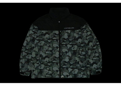 BAPE ABC Dot Reflective Camo Down Jacket Black