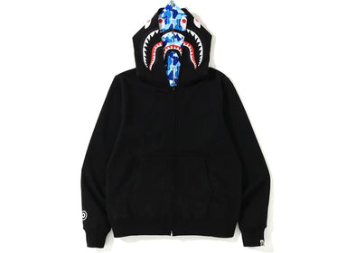 Bape ABC Shark Full Zip Double Hoodie (Black/Blue)