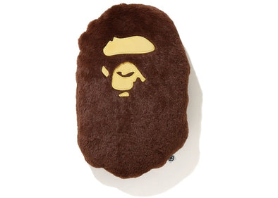BAPE Ape Head Cushion Brown