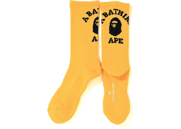 Bape College Socks (Yellow)