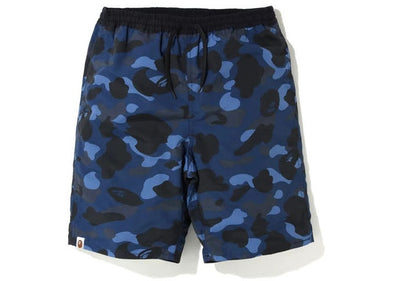 BAPE Color Camo Reversible Shorts Navy