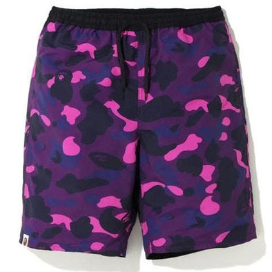BAPE Color Camo Reversible Shorts Purple