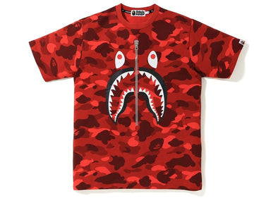 BAPE Color Camo Shark Tee (Red)