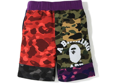 BAPE Mix Camo Crazy Sweat Shorts Multi