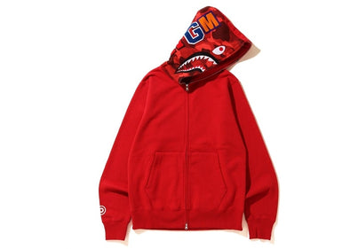 BAPE Color Camo Shark Full Zip Hoodie (Red)