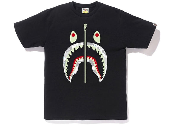 BAPE Space Camo Front Shark Tee (Black)