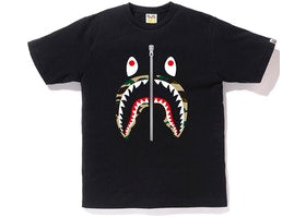 Bape 1st Camo Shark Tee (Black/Yellow)