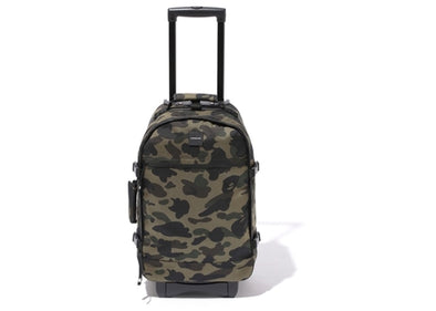 BAPE 1st Camo Travel Luggage (Cordura) Green Camo