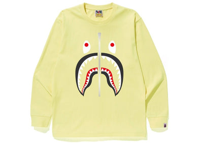 BAPE Shark L/S Tee Tee Yellow