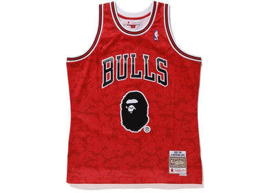 BAPE x Mitchell & Ness Bulls ABC Basketball Swingman Jersey