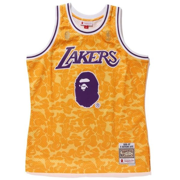 Bape x Mitchell & Ness Lakers ABC Basketball Swingman Jersey