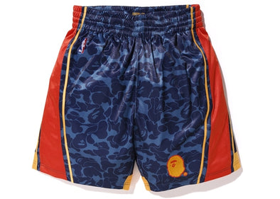 Bape x Mitchell & Ness Warriors ABC Basketball Shorts