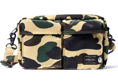 BAPE x Porter 1st Camo Double Pocket Shoulder Bag (Yellow)