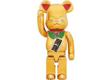 Bearbrick Beckoning Cat Lucky 1000% Gold