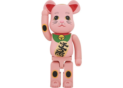 Bearbrick Beckoning Cat Phosphorescent 1000% Red
