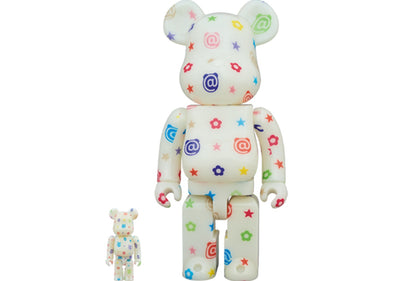 Bearbrick Glow In The Dark Version 100% & 400% Set Multicolor - 2019