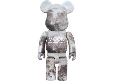 Bearbrick Moon 1000%  Grey